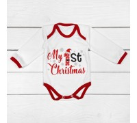 Бодік зі святковою тематикою My First Christmas білого кольору