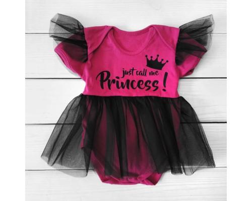 Боди платье с рождения с фатином Princess
