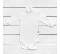 Детский боди рубчик в нейтральном цвете White