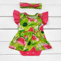 Боді-сукня з коротким рукавом і пов'язкою Summer