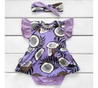 Боді плаття з пов'язкою для новонароджених VioletNut