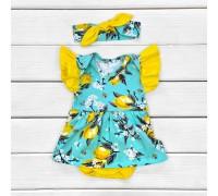 Боді-сукня з коротким рукавом Лимончик