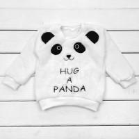 Детский пушистый джемпер Панда