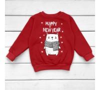 Джемпер красного цвета Мишка Happy New Year