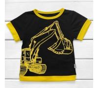 Дитяча футболка з принтом Екскаватор
