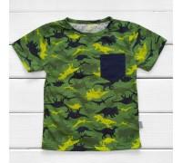 Мальчукова футболка з принтом Динозаврики