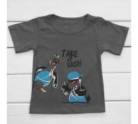 Детская футболка Птички на стиле