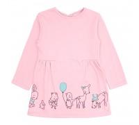 Детское трикотажное платье Зверушки