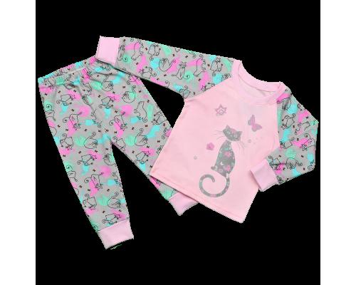 Детская пижама для девочек Коты