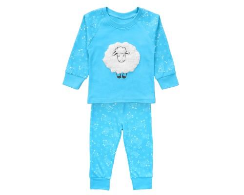 Детская пижама голубая с овечкой