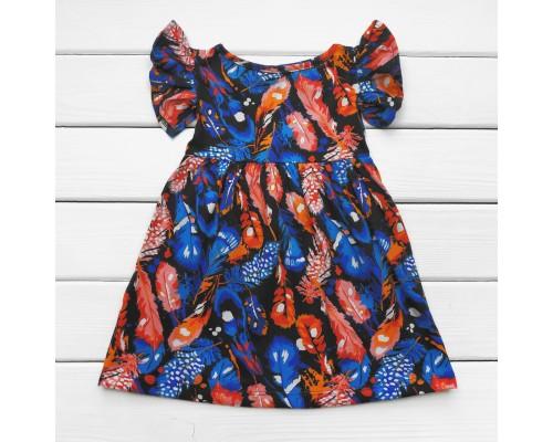 Детское летнее платье Перышки