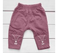 Детские штаны Лисички футер (начес)