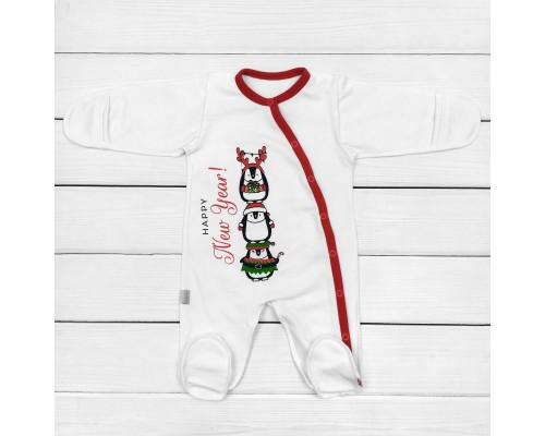 Сліп для новонароджених з новорічною тематикою Пінгвіни