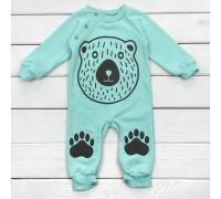 Ментоловий чоловічок для малюків з принтом Медвежа