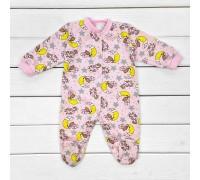 Футерний чоловічок для дітей від трьох місяців Медведики рожевого кольору