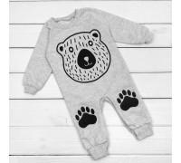 Серый человечек для малышей с принтом Медвежонок
