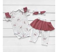 Нарядный комплект для новорожденной девочки MiMiMi