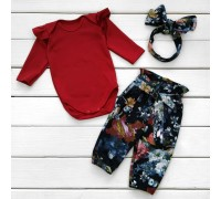 Стильный комплект для девочки из трех предметов Rose