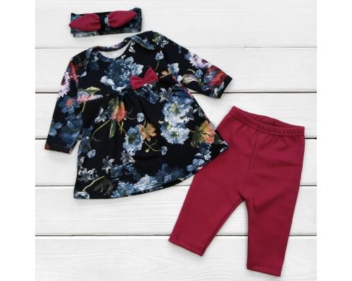 Ясельный комплект Fashion с бордовыми вставками