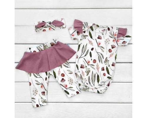 Комплект для новорожденной девочки Botanic