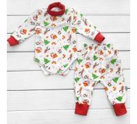 Боди и штаны для малышей от трех месяцев Snowman с начесом