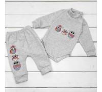 Набір для дитини боді та штани від трьох місяців Совенята