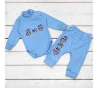 Набор с начесом для ребенка от трех месяцев Совушки