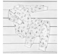 Комплектик для малюків від трьох місяців Milk боді та штани
