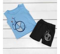 Комплект для мальчика с принтом Велосипед
