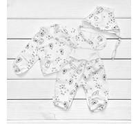 Комплект з чепчиком для новонароджених Milk з футеру