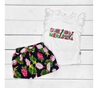 Костюм на лето для девочки с шортами SummerTime