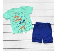 Детский комплект футболка и шорты Юрский период