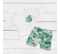 Комплект для мальчика Fern с белой футболкой