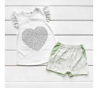 Літній комплект для дівчинки Heart з шортиками