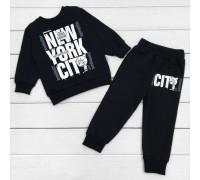 Дитячий костюм з начосом чорного кольору New York City