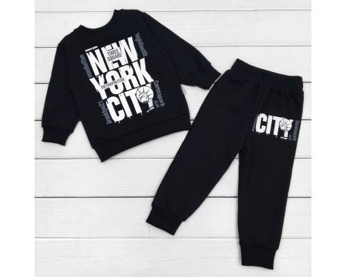 Детский костюм с начесом черного цвета New York City