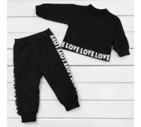 Дитячий костюм з укороченим світшотом Love Love Love