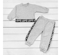 Спортивний костюм дитячий з укороченим світшотом Love Love Love