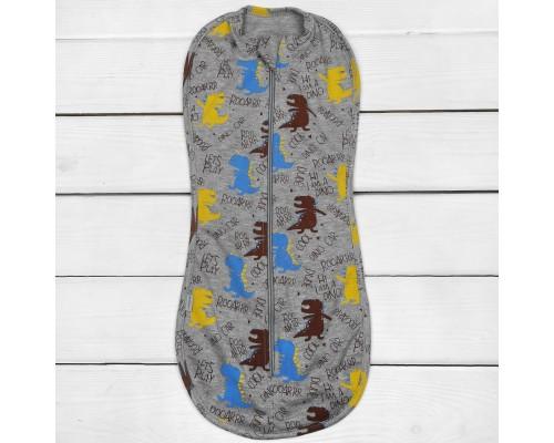 Евро-пеленка кокон на молнии Динозавры
