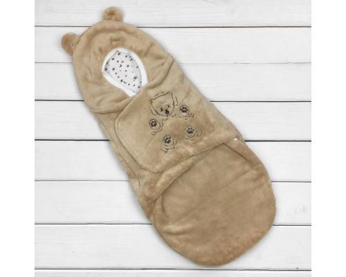 Євро-пелюшка кокон на липучці Медвежа