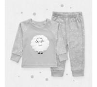 Пижама интерлок набивной пенье с аппликацией Барашек