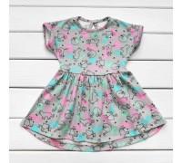 Платье летнее детское Кошечки