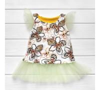 Платье-туника с фатином Цветочки
