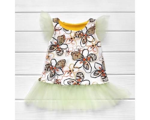 Плаття-туніка з фатином Квіточки