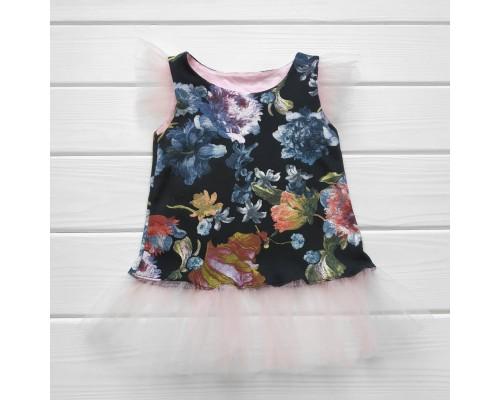 Туніка-плаття з фатином Квіточки