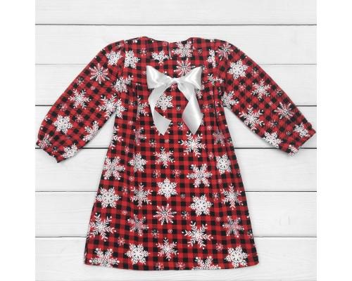Сукня дитяча з начосом з бантом Сніжинка