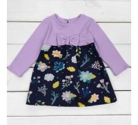 Детское нарядное платье Цветок фиолетового цвета