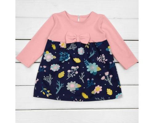Детское нарядное платье Цветок розового цвета
