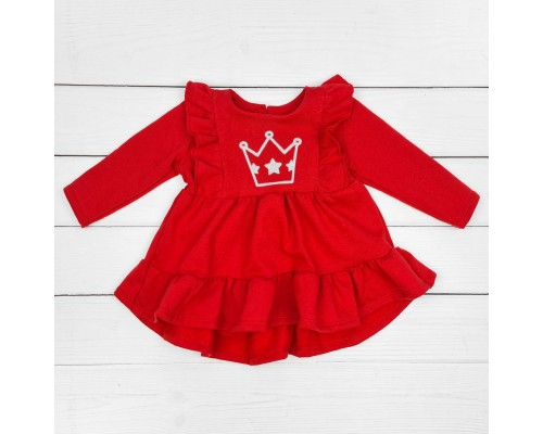 Детское красное платье-туника Princess