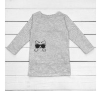 Дитяча туніка-сукня для дівчинки з футеру Котя